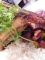 Honey Glazed Cajun Pork Belly with Stewed Red Beans_Ricky Panesar