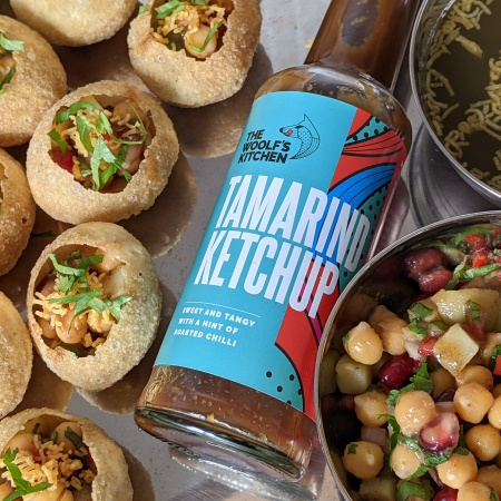 This week we rustled up some Pani Puris (also known as Gol-Gappas) using Woolf's Kitchen's Tamarind Ketchup which went down a real storm.